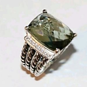 DAVID YURMAN WHEATON PRASIOLITE RING